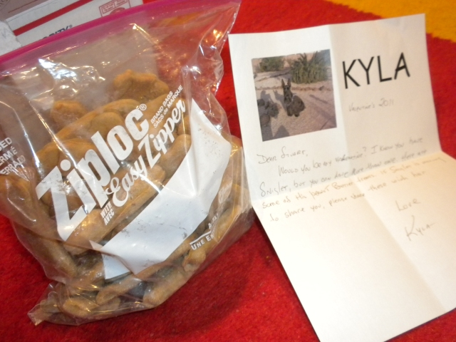 She sent me a gift. And a letter.