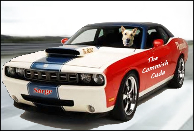 Here's Sarge in his Plymouth Hemi Cuda. Impressive!