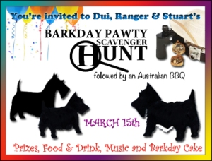 BARKDAY PARTY Scavenger Hunt INVITE