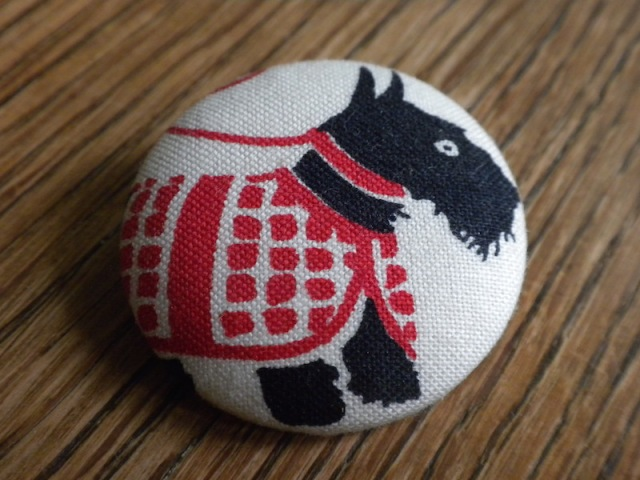 Scottie Button Pin